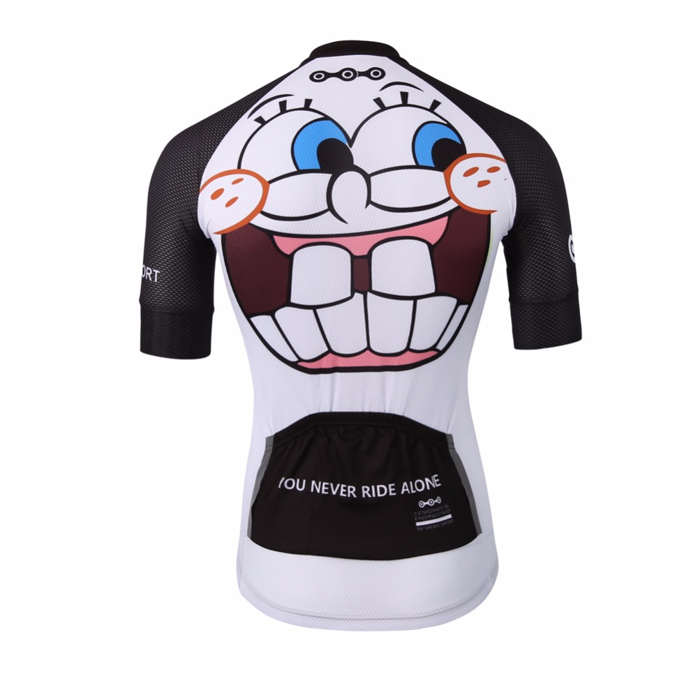 Unique White Sublimation Cycling Jersey Top SBS dragkedja Rolig - Cykling - Foto 3