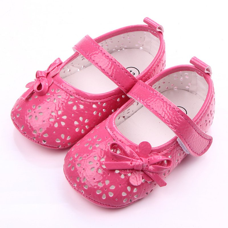 Princess Kids Baby Gril Shoes Hollow Female newborn shoes Girl Leather Soft Bottom First Walkers