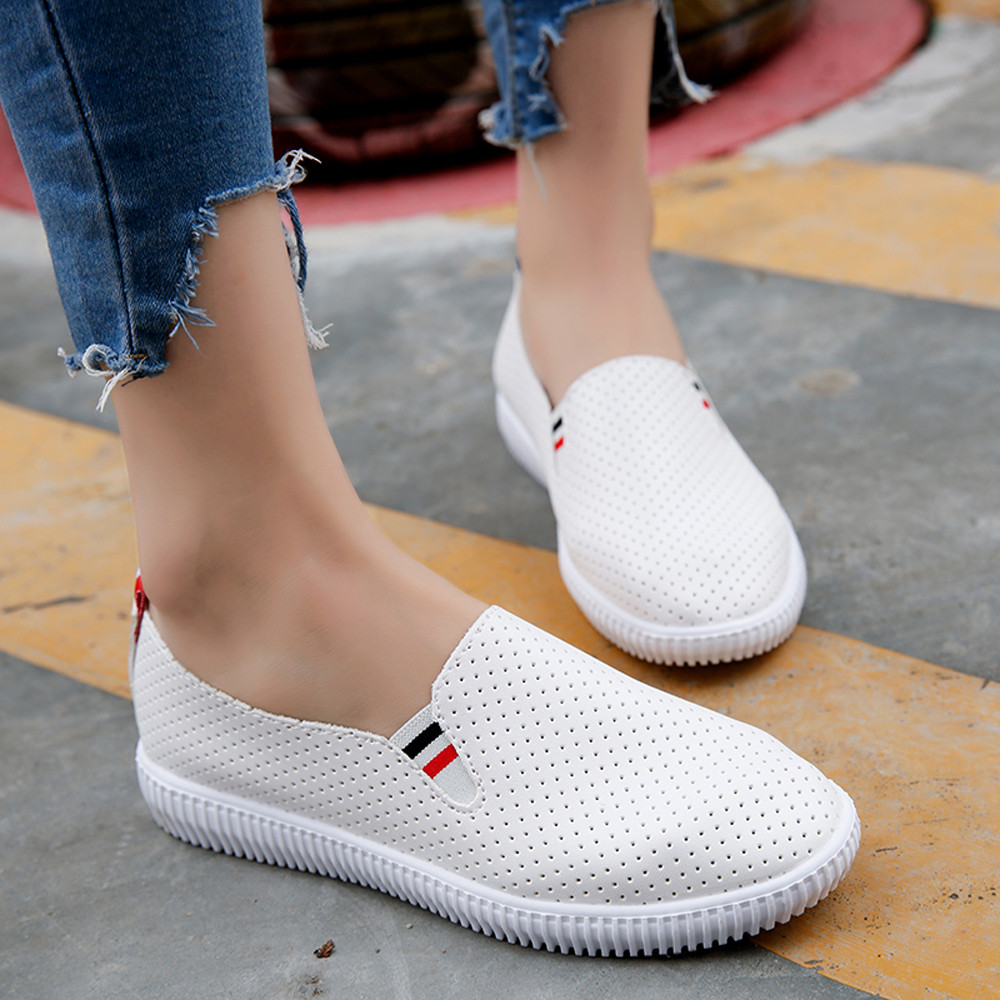Women Shoes Casual Cutouts Flat Heel Slip On Lace Air Shoes Hollow Out Summer Breathable Platform Flat Shoe Outsole Comfortable fashion summer mesh lace low heel breathable casual dress shoes flat women licht schoenen sweet slip on outdoor walking shoes