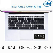 P2-06 6G RAM 512G SSD Intel Celeron J3455 Gaming laptop notebook computer keyboard and OS language available for choose