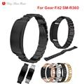 Correa de reloj de metal de acero inoxidable para samsung gear fit2 sm-r360 correa muñequera reemplazo para samsung fit 2 smart watch