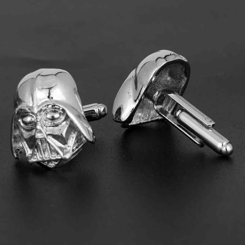 HANCHANG ювелирные Зажимы для галстука и запонки с изображением из «Звездных войн 3D с Дартом Вейдером из Запонки с рыцарем для рубашек запонки шпильки fathers day Gift»