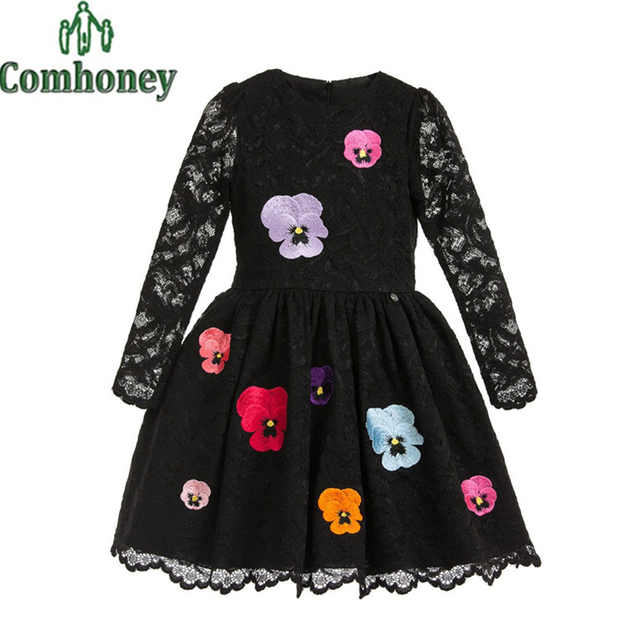Girls Dress Long Sleeve Dress for Girl Wedding Costume School Teenage Dress 10 year Old Princess Party Kid Clothes