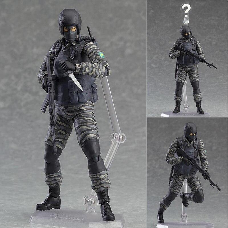 METAL GEAR SOLID 2: SONS OF LIBERTY figure Figma 298 SWAT Action Figure Modello Giocattolo con la scatola