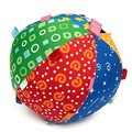 Cotton Toy Hand Grasp Ball Cloth Soft Sense Education 15x15cm Funny Design Colorful Ball Ring Bell Children Baby
