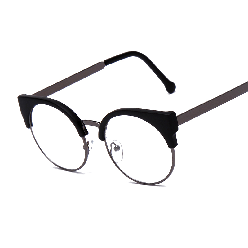 fashion women brand designer cats eye glasses half frame cat eye glasses women eyeglasses frames high