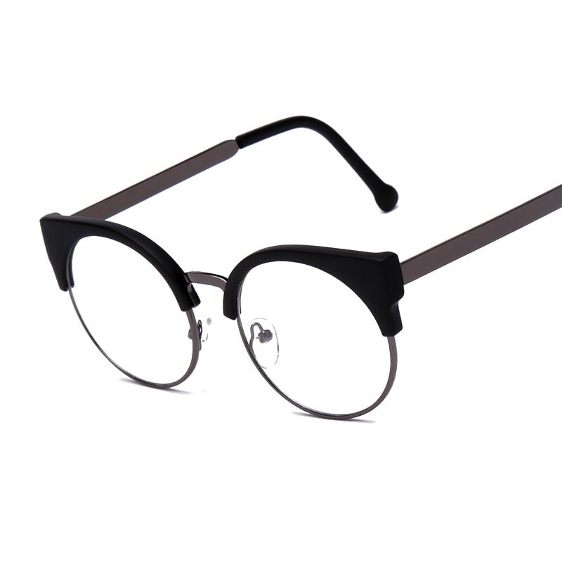 fashion women brand designer cats eye glasses half frame cat eye glasses women eyeglasses frames high