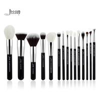 Jessup Brand Black Silver Professional Makeup Brushes Set Make Up Brush Tools Kit Foundation Powder Definer