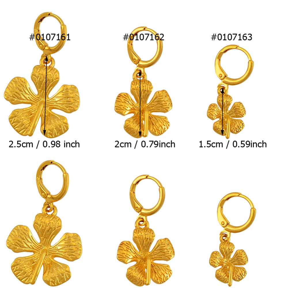 Gold Color Guyana Flower Earrings For Women S Plant Micronesia Islands Marshall Kiribati Earring Jewelry J0420 In Stud From
