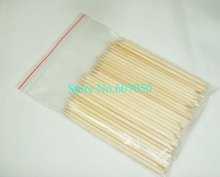 Darmowa wysyłka 100 sztuk worek x 11 5cm pomarańczowy drewniany Nail Art Sticks Manicure Stick dla pielęgnacja paznokci-hurtownia tanie tanio Pusher skórek NP-100P Orange Wood 100pcs oppbag Zhejiang China (Mainland)