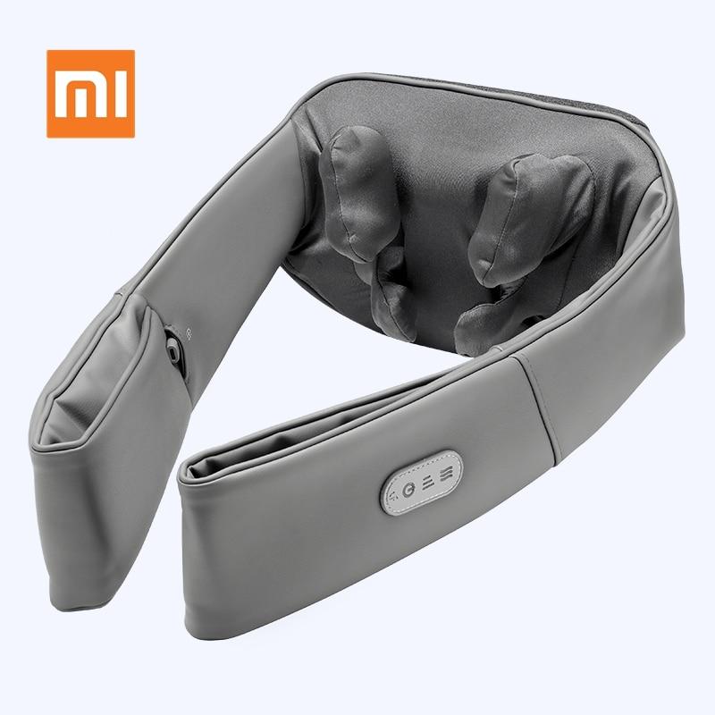 Original Xiaomi Lefan 3D Wireless Electrical Neck Shoulder Body Massager U Shape Shiatsu Heated Knead Massagem Car Home Office