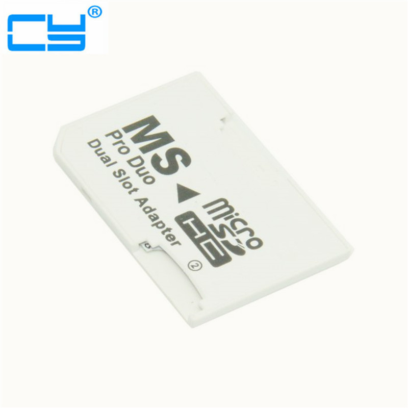 Dual Slot MicroSD TF to MS Memory Stick Pro Duo Adapter Sony PSP & Mobile Phone карта памяти memorystick duo pro sony ms hx16b t1