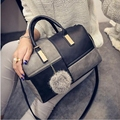 Hanup Women pu leather shoulder bags new female patchwork handbags hot sale ladies crossbody bags casual pillow bags sac a main