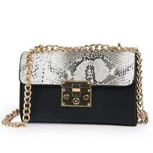 Alligator Crocodile Small Chain bag handbags women famous brand luxury handbag Black designer Crossbody for