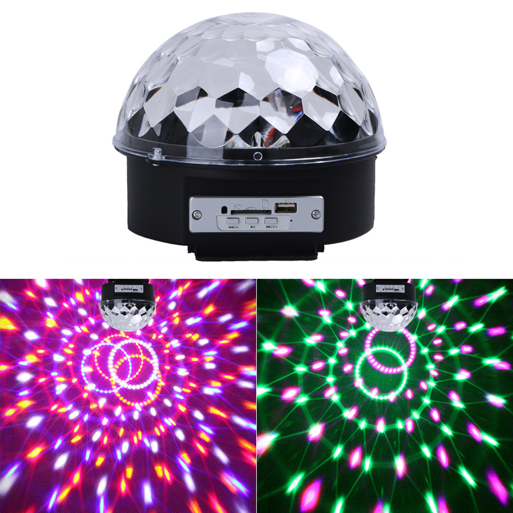 Remote Control USB Bluetooth MP3 LED Stage Magic Ball Lighting Lamp Effect US for DJ Disco Party KTV #LO rg mini 3 lens 24 patterns led laser projector stage lighting effect 3w blue for dj disco party club laser