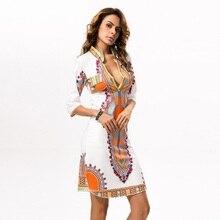 3XL размера плюс торговля африканская одежда Дашики Платье женское летнее хиппи печать Дашики ткань женское платье Femme Boho Robe Femme