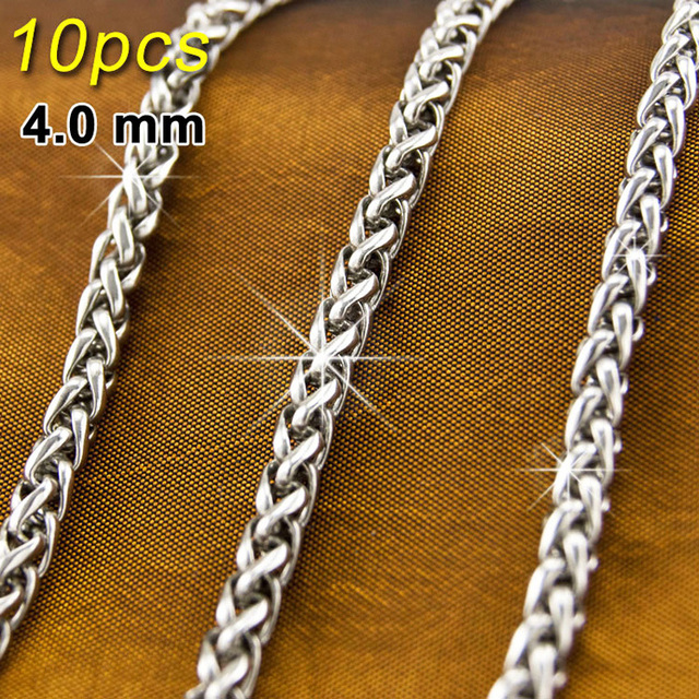 Pcs JEWELRY Keel Link Silver Chains For Men L Stainless Steel - Diy braided necklace
