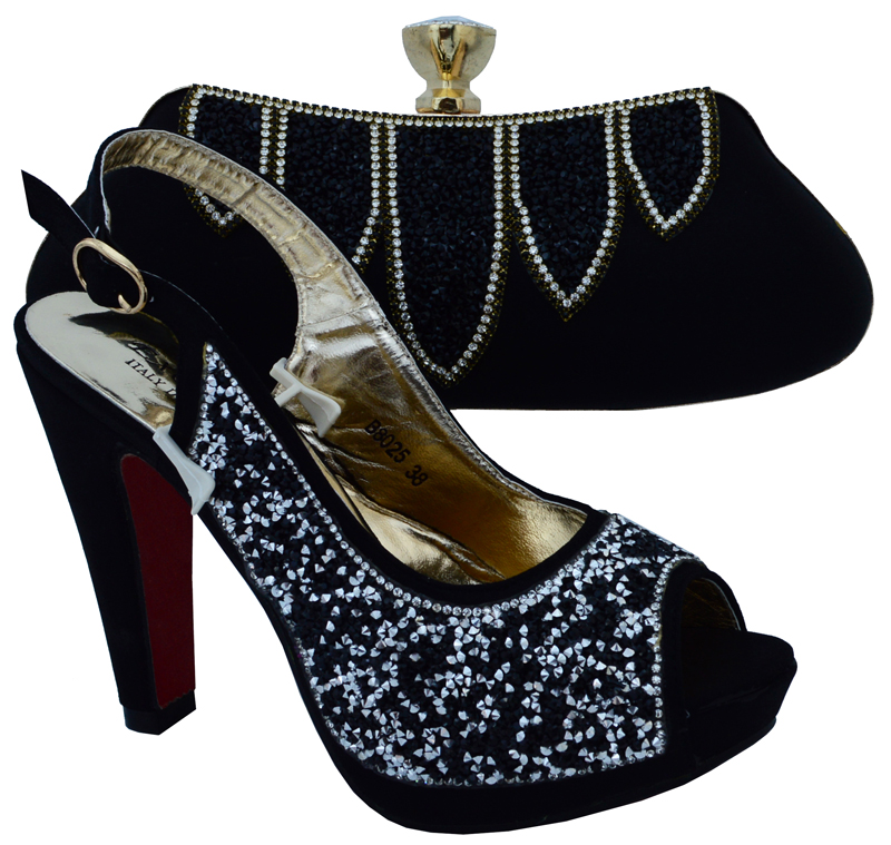 Matching Shoes And Bags For Wedding High Quality Women Shoes And Bag Set To Match Fashion Ladies
