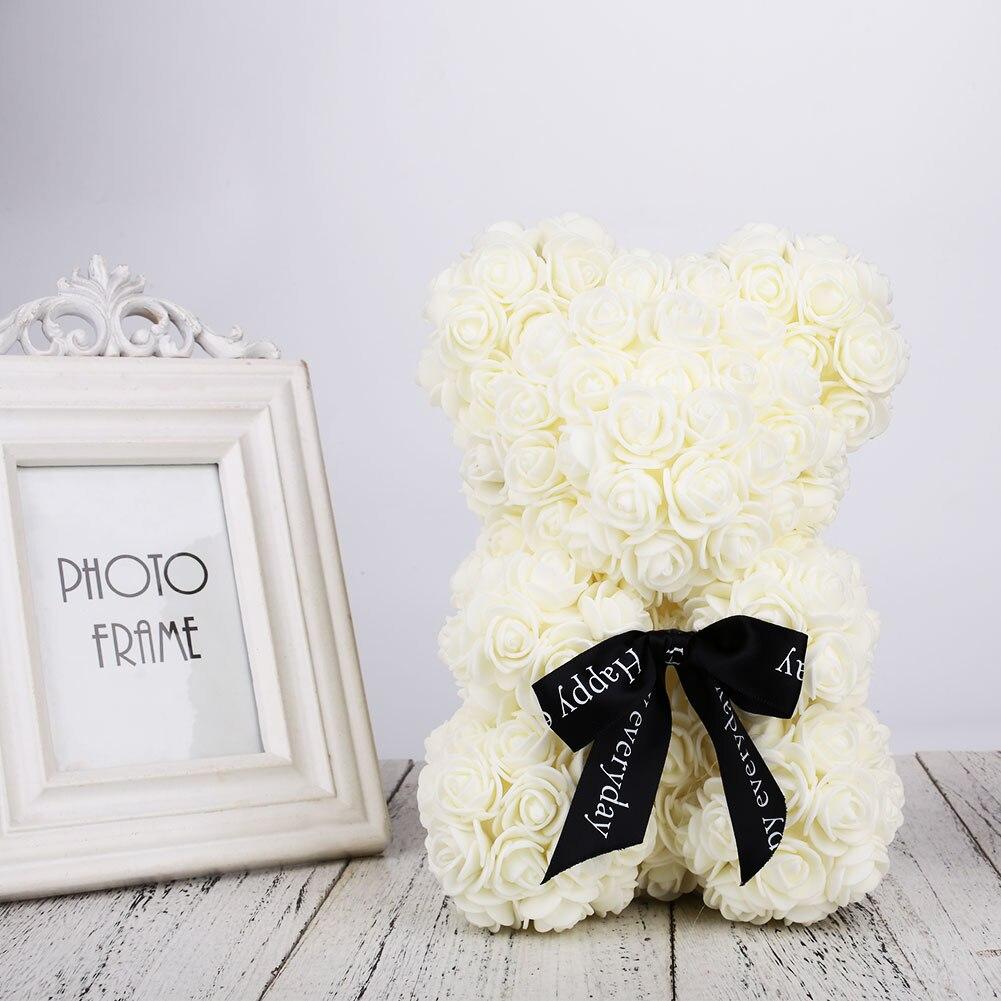Медведь куклы Роза Медведь День Святого Валентина девушка пена романтическая искусственная роза милая игрушка