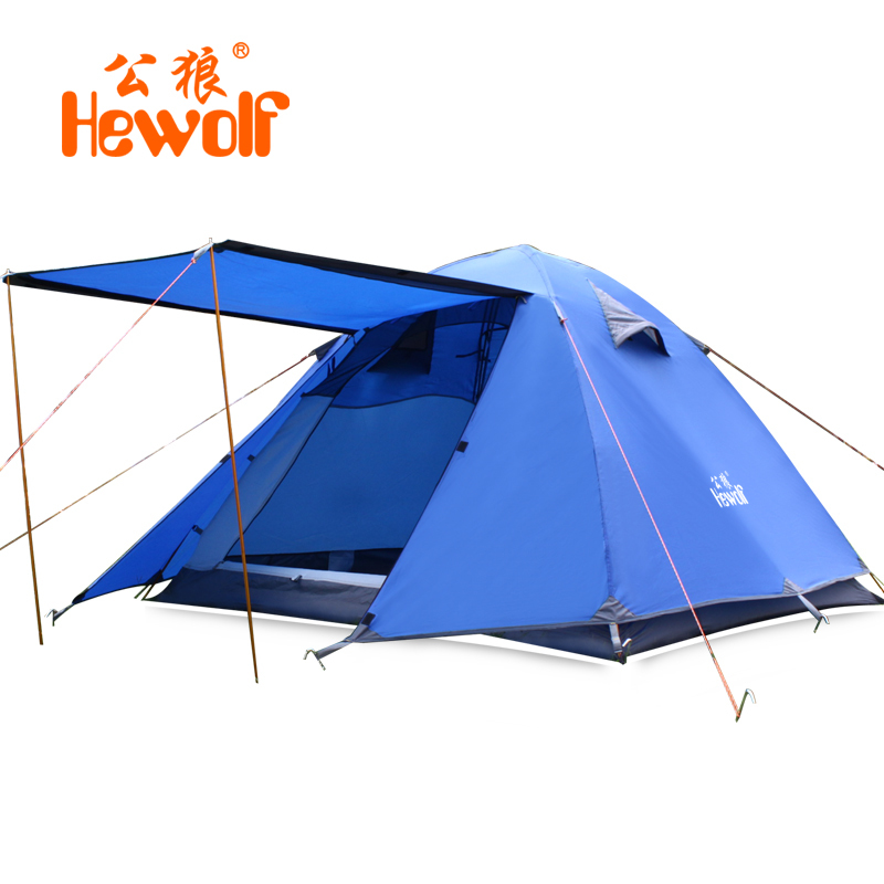 3 Person Waterproof 4 Reason Camping Tent Outdoor Hiking Fishing Hunting Barraca Climbing Windproof Tenda Double Layer PU4000mm high quality outdoor 2 person camping tent double layer aluminum rod ultralight tent with snow skirt oneroad windsnow 2 plus