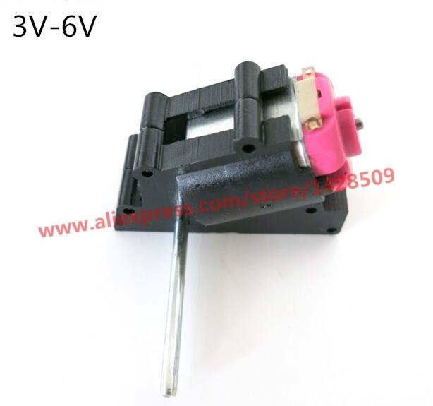 Double Shaft Bevel Angle Gear Motor Suit Worm Reducer 3-6V DIY Parts JP