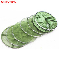 Anti Hanging Small Mesh Fishing Care Net Stainless Steel Double Ring Fishing Net Universal Location Fish