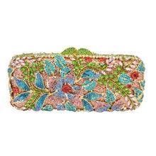 LaiSC Frauen Luxus Kristall Abendtasche Designer Diamante Handtasche Partei Tasche Geldbörse Pochette Bräute Hochzeitstag Kupplungen SC235