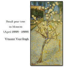 Pear tree in blossom by Van Gogh Wall Picture Poster Print Canvas Painting Calligraphy Decor for Living Room Bedroom Home Decor an angel in rrd with lute by da vinci wall picture poster print canvas painting calligraphy for living room bedroom home decor