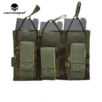 emersongear Emerson Magazine Pouches 5.56 Triple Open Top Pistol Mag Pouch Airsoft Wargame Military Tactical Magazine Pouch