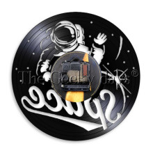 Astronaut Vinyl Record Wall Clock