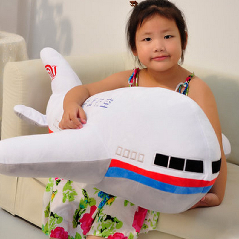 Fancytrader 95cm Large Soft Cute Simulated Cartoon Airplane Toy 37'' Big Stuffed Aircraft Model Doll Pillow Gift for Kids fancytrader new 2015 87 220cm large soft stuffed cute plush simulated the lion king toy nice gift free shipping ft50623