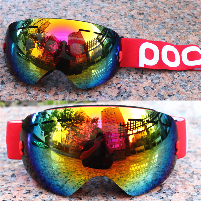 poc brand Big Ski Goggles Men Women Lens UV400 Anti-fog Skiing Eyewear Snow Glasses Adult Skiing Snowboard Goggles vector brand ski goggles men women double lens uv400 anti fog skiing eyewear snow glasses adult skiing snowboard goggles