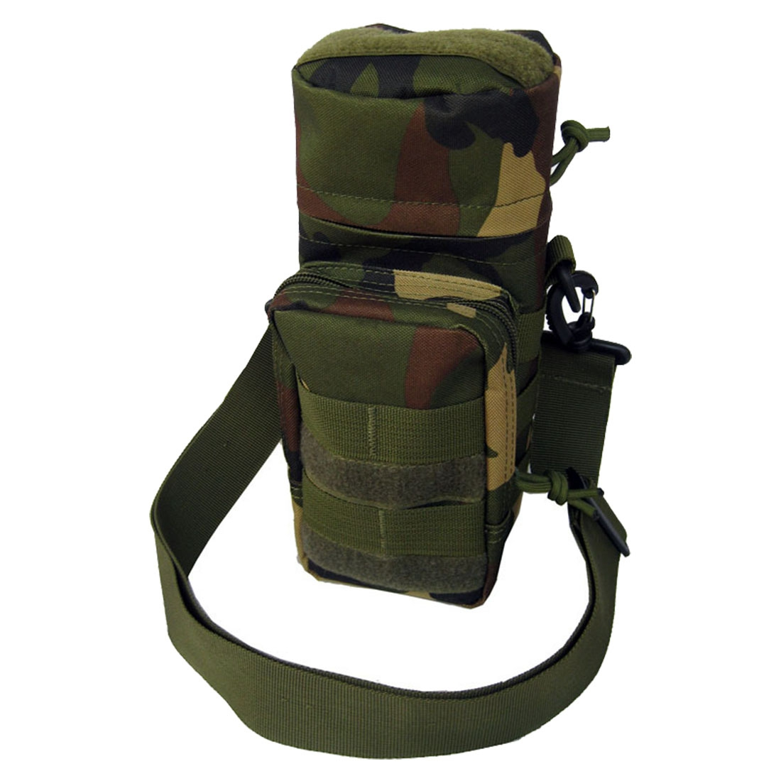 Molle Zipper Water Bottle Utility Medic Pouch w Small Mess Pouch war game (Color: Jungle camouflage)