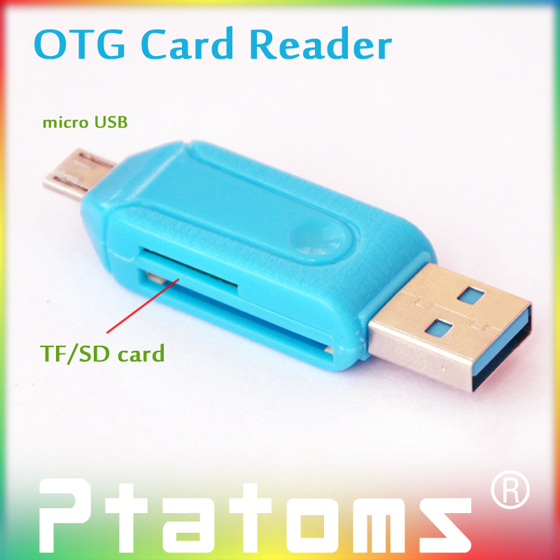 2 Pcs/lot OTG Card Reader Universal Micro USB OTG TF/SD