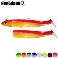 Hunthouse black minnow 100mm 25g fishing soft baits pike lures jig head bass fishing leurre souple shad muskies predator