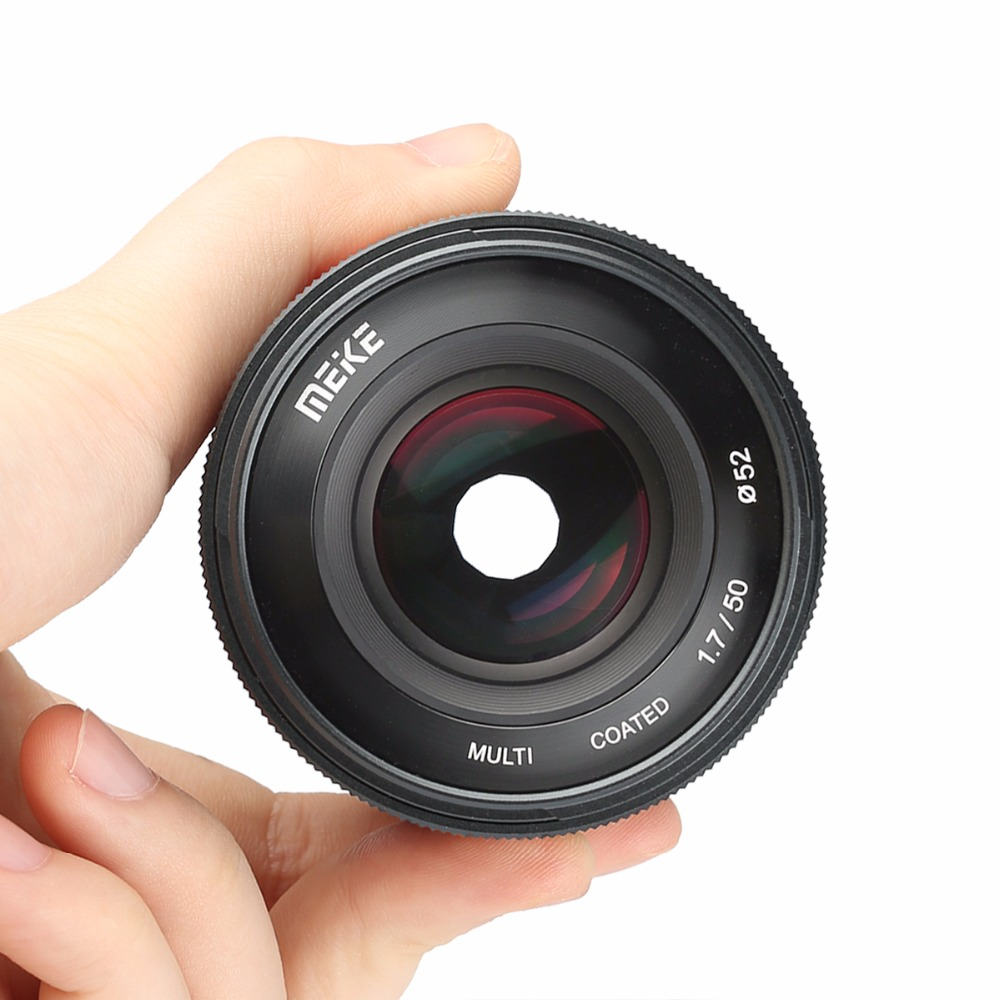 Meike Mk 50mm F17 Large Aperture Manual Focus Lens For Sony E Mount 6000 With Lensa 16 50 Mm F 35 56 Limited A6000 A6500 A6300 A5100 A5000 Nex7 Cameras Full Frame In Camcorder Lenses From