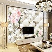 Custom 3D Print DIY Fabric Textile Wallcoverings For Walls Wallpaper Matt Silk For Living Room Chinese
