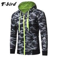 T Bird Camouflage Snowflakes 3d Hoodies Men Cardigan Sweatshirt 2017 Autumn Winter Slim Hooded Hoody Tops