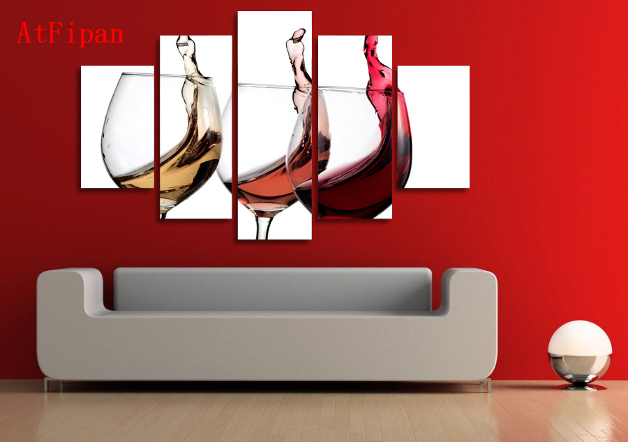 atfipan modular pinturas en la pared hd impreso copas de vino color impresin en lienzo de