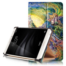 PU Leather-based Stand Cowl Case for Huawei Mediapad T2 7.zero Professional PLE-703L PLE 703L Pill +2Pcs Display Protector