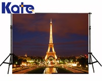 Kate 8X8FT Eiffel Tower Backdrop French Background Dark Photography Backdrops Wedding Backdrops For Photography Studio