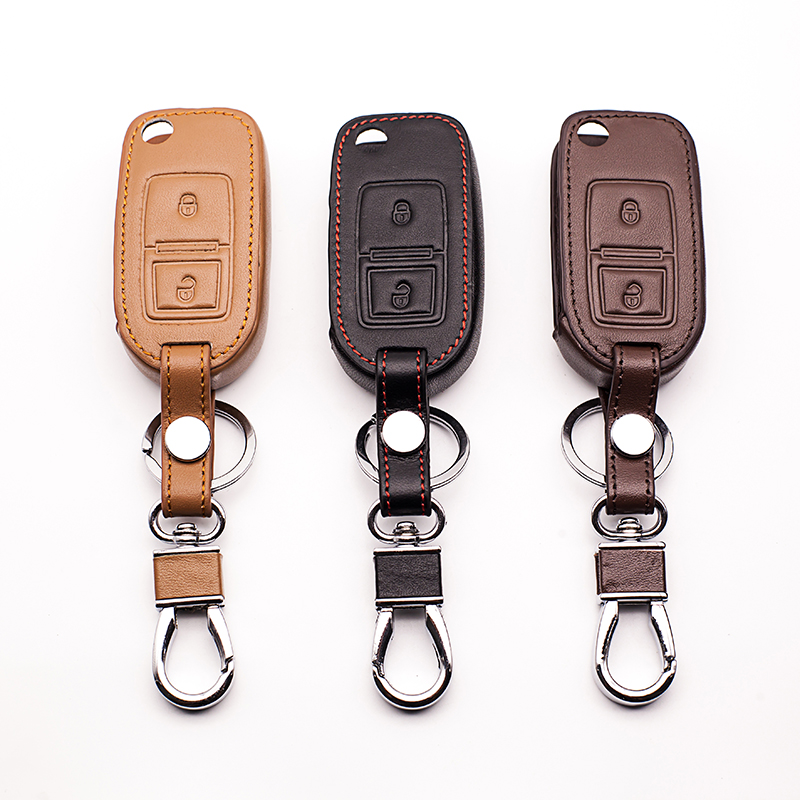 Top layer leather Genuine Leather Car walletcar key cover for Volkswagen Jetta Tiguan Pa ...