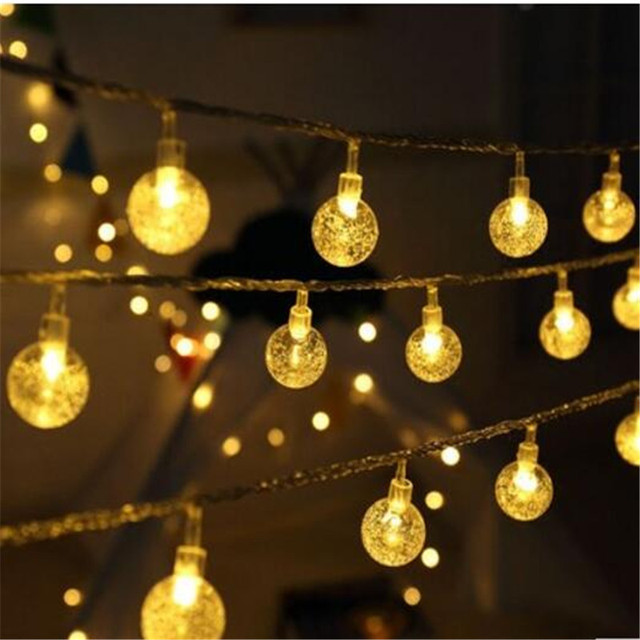 CRYSTAL CHIC LED STRING LIGHTS : WARM WHITE LED FAIRY ...   Crystal Light Show String