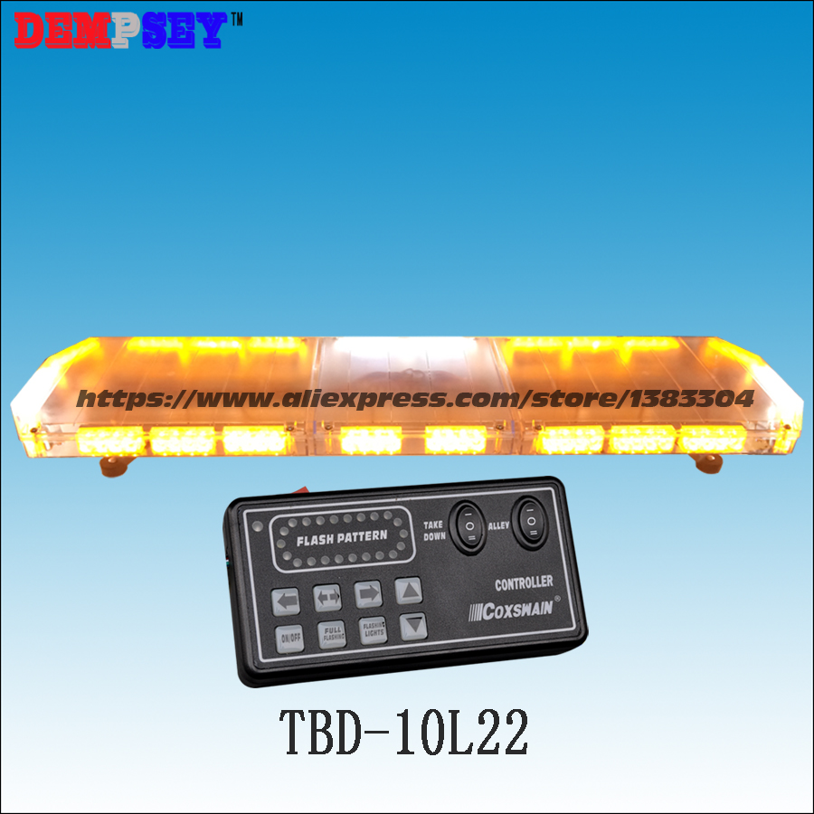 TBD-10L22 LED Lightbar, amber emergency warning light ,waterproof, for ambulance/fire truck/police/ vehicle ,18 flash patterns, higher star 140cm 104w led emergency lightbar truck warning light bar strobe light for police ambulance fire vehicles waterproof
