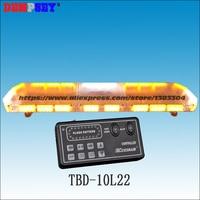 TBD 10L22 LED Lightbar, amber emergency warning light ,waterproof, for ambulance/fire truck/police/ vehicle ,18 flash patterns,