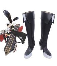 Azur Lane USS Enterprise Cosplay Boots Black Shoes Custom Made