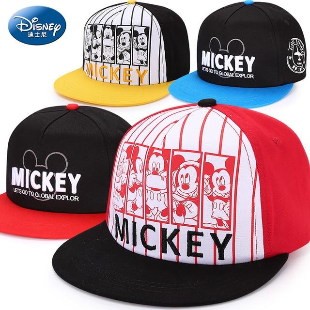 Disney children hat mickey mouse cap fashion cartoon kids hat outdoor wear  cotton Adjustable breathable Visor Shade Baseball cap bad8c9d6d315