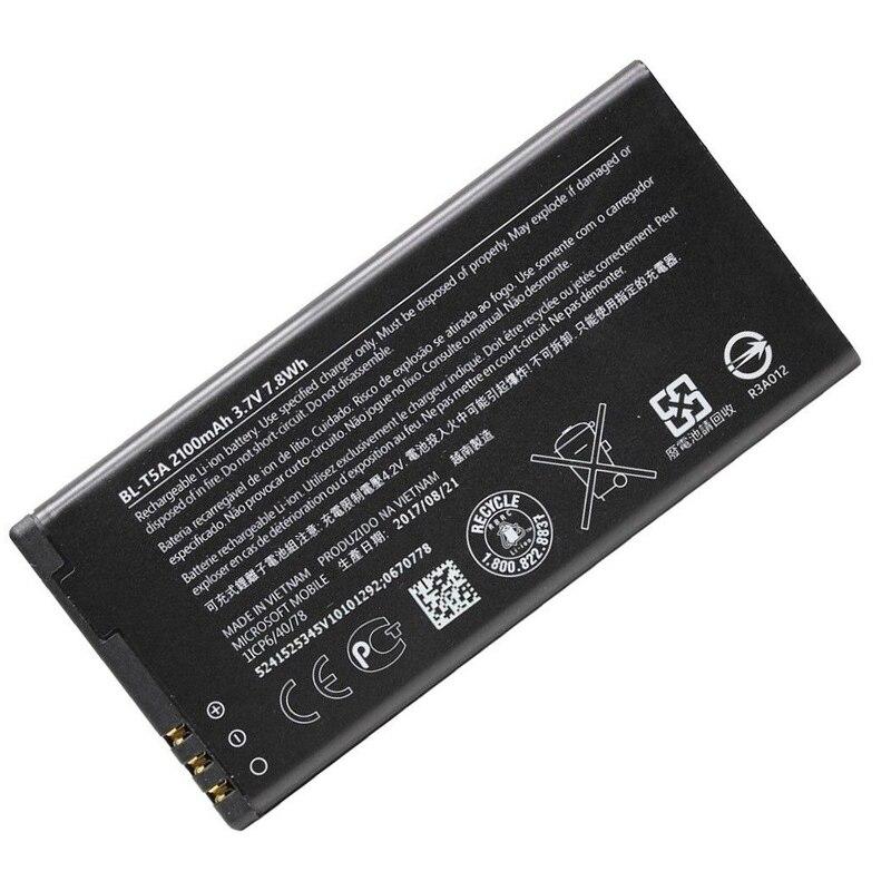 Ersatz Lithium-ionen 2100 mah Batterie BL-T5A telefon batterie für Nokia Lumia 550 730 735 738 Superman RM1038 RM1040 Lumia550