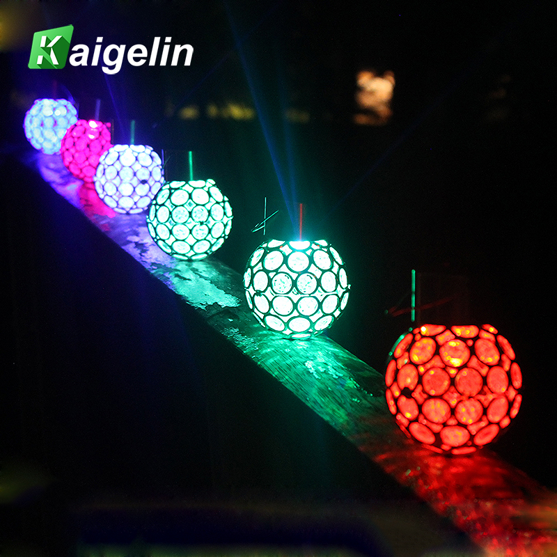 5PCS Peacock Eye Shaped Solar LED Landscape Lamp Garden Light Colorful LED Hanging Light Outdoor Garden Decoration Lighting