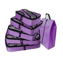 QIUYIN Organizer Bag Travel Women Spring Luggage Bag Polyester Packing Cubes Travel Bag Luggage Bag Packing Cubes 5 Pcs